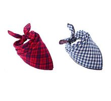 Pet Dog Bandana Scarf Pack  SCENEREAL Triangle Bibs Reversible Plaid Printing Kerchief 2 Pcs set Accessories for Small to Large Dogs Cats Pets
