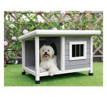 Petsfit 33″L X 25″W X 23″H Outdoor Wooden Dog House For Small Dogs