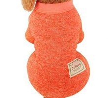 vmree Dog Apparel Pet Dogs Puppy Fleece Sweater Clothes Autumn Winter Warm Sweater