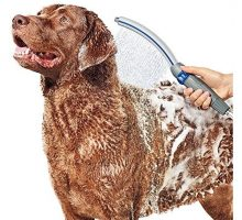 Waterpik PPR252 Pet Wand Pro Dog Shower Attachment For IndoorOutdoor Use 13″ Blue Grey