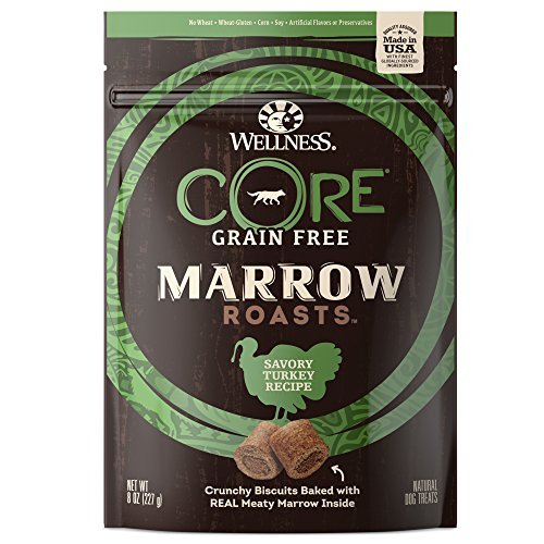 Wellness CORE Marrow Roasts Natural Grain Free Dog Treats Turkey 8Ounce Bag