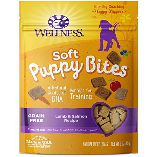 Wellness Soft Puppy Bites Natural Grain Free Puppy Training Treats Lamb & Salmon 3Ounce Bag