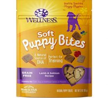 Wellness Soft Puppy Bites Natural Grain Free Puppy Training Treats Lamb & Salmon 3Ounce Bag