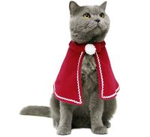 Cat Costume Legendog Christmas Pet Costumes Red Velvet Pet Cape Pet Apparel for Small Dogs and Cats