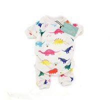 CuteBone Dog Pajamas Dinosaur Dog Apparel Dog Jumpsuit Pet Clothes P01(L)