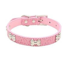 Pet CollarHaoricu Small Dog Collars Bling Crystal With Bone Necklace Puppy Cat