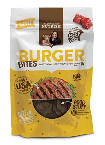 Rachael Ray Nutrish Burger Bites Dog Treats Beef Burger with Bison Recipe 12 oz