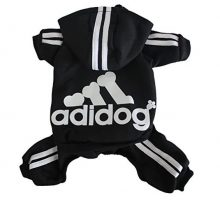 Scheppend Adidog Pet Clothes for Dog Cat Puppy Hoodies Coat Winter Sweatshirt Warm SweaterBlack Medium