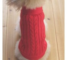 Tangpan Turtleneck Classic StrawRope Pet Dog Sweater Apparel