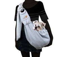 Alfie Pet by Petoga Couture  Chico 20 Revisible Pet Sling Carrier with Adjustable Strap  Color Grey and Denim