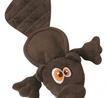 Hear Doggy Flattie Brown Beaver Ultrasonic Silent Squeaker Dog Toy