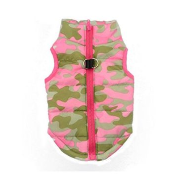 Howstar Pet Camouflage Cold Weather Coat Small Dog Puppy Winter Padded Outfit Warm Garment