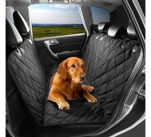 Pet Seat Cover Dog Hammock Waterproof Dog Car Seat Cover Protector with Non Slip Silicone Backing for Cars Trucks SUVs with Non Slip Backing Soft Large Black