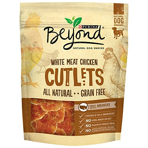 Purina Beyond Natural Dog Snack White Meat Chicken Cutlets 9Ounce Pouch Pack of 1