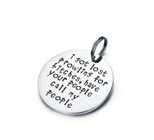 Udobuy Funny Pet Tag Funny Dog Tag Stainless Steel Pet Tags Dog Collar Tag Prowling for Bitches