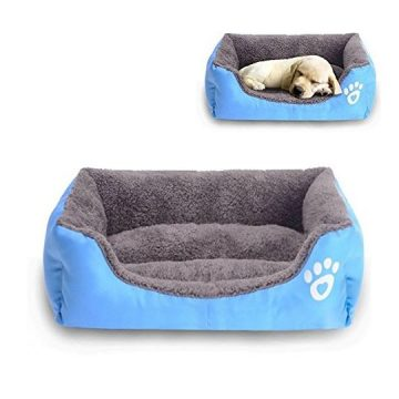 Barelove Pet Dog Bed Washable Rectangular Pet Basket Bed  Durable and 100Percent Waterproof and Fleece Lining Fit Most Pets