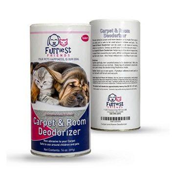 Carpet and Room Deodorizer – Environmentally Friendly – NonAbrasive – Pet Odor Eliminator  14oz by Furriest Friends