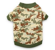 DroolingDog Dog Clothes Camo Dog T Shirt Pet Tee Shirts Puppy Apparel for Small Dogs Boy Small Green