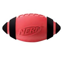 Nerf Dog Squeak Rubber Football Dog Toy Medium Large Red