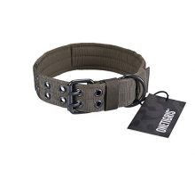 OneTigris Military Adjustable Dog Collar with Metal D Ring & Buckle Available in 3 Colors & 2 Sizes