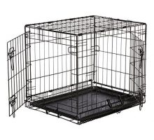 AmazonBasics DoubleDoor Folding Metal Dog Crate  Small
