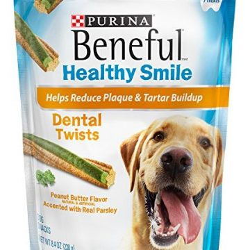 Beneful Healthy Smile Dental Dog Snacks Large Twists 84Ounce Pouch Pack of 1
