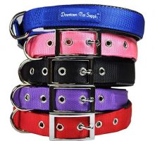 Deluxe Adjustable Thick Comfort Padded Dog Collar Large Purple by Downtown Pet Supply