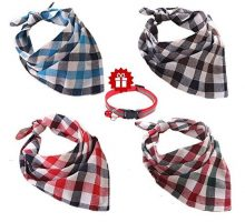 Ggkidsfunpet 4 Piece Pet Dog Bandana Triangle Bibs Scarf Accessories for Dogs Cats Pets Animals