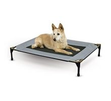 K&H Pet Products Original Pet Cot Elevated Pet Bed Large Gray Mesh 30″ x 42″ x 7″