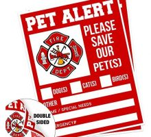 Pet Alert Fire Rescue Sticker  5″x 4″ Double Sided