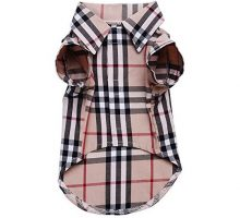 CHOLEGIFT Small Dog Puppy Shirt Clothing Cat Cotton Lapel Costume Polo Apparel  Western Plaid Dog Clothes for Pet