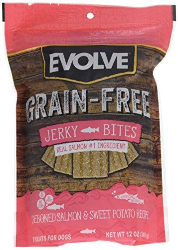 Evolve Grain Free Deboned Salmon & Sweet Potato Recipe Jerky Bites Small