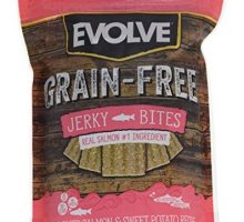 Evolve Grain Free Deboned Salmon & Sweet Potato Recipe Jerky Bites Small