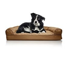 FurHaven Orthopedic Dog Couch Sofa Bed for Dogs and Cats Large Toasted Brown