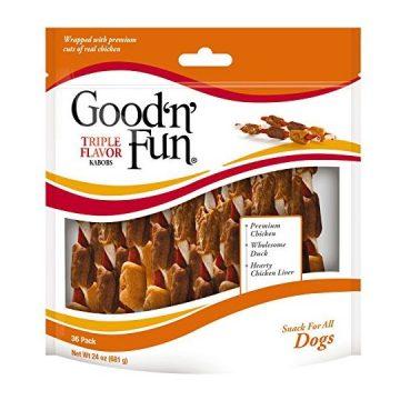 Good'n'Fun P94187 Triple Flavor Kabob Dog Chews One Size