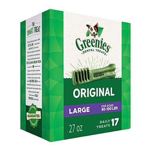 Greenies Original Large Dog Dental Chews  27 Ounces 17 Treats