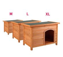 JAXPETY Pet Products Dog Club House Pet Shelter XL Home Outdoor Ground Wood Kennel Weather Resistant