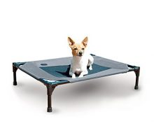 K&H Pet Products Original Pet Cot Elevated Pet Bed Medium Gray Mesh 25″ x 32″ x 7″