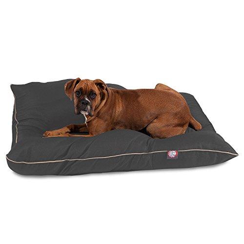 Majestic Pet Gray Super Value Pet Dog Bed 35 x 46 Large