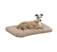 MidWest Homes for Pets Plush Dog Bed | Ombré Swirl Dog Bed & Cat Bed | Mocha 35L x 23W x 2H  Inches for Med Large Dog Breeds
