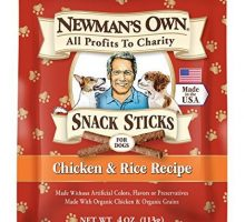 Newman Own Snack Sticks for Dogs Chicken & Rice 4Ounce Bag