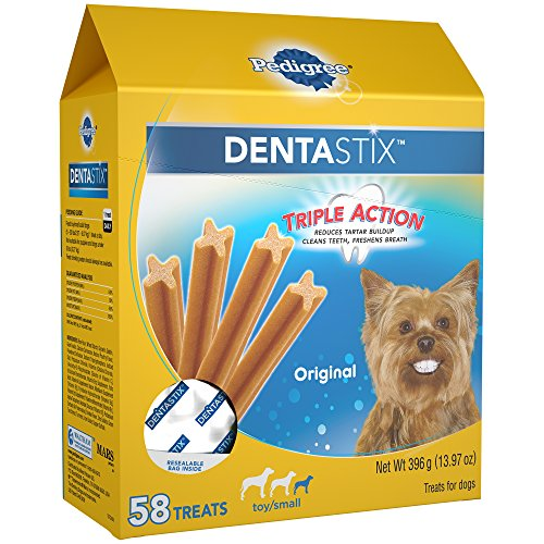 PEDIGREE DENTASTIX Original Toy Small Treats for Dogs 1397 Ounces 58 Count