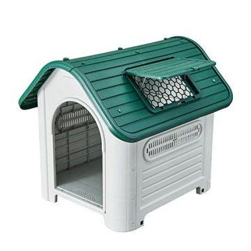 "SENYEPETS Plastic Waterproof dog house 35"" pet Kennel"