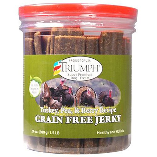Triumph Dog Turkey Pea Berry Grain Free Jerky 24Ounce