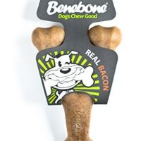 Benebone Wishbone Durable Dog Chew Toy for Aggressive Chewers Made in USA Large Real Bacon Flavor
