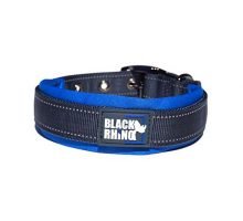 Black Rhino The Comfort Collar Ultra Soft Neoprene PADDED DOG COLLAR for All Breeds  Heavy Duty Adjustable Reflective Weatherproof