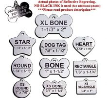 Custom Stainless Steel Pet ID Tags Front and Back Engraved Dog Tags Personalized for Dogs and Cats