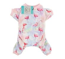 CuteBone Dog Pajamas Flamingo Dog Apparel Dog Jumpsuit Pet Clothes Pajamas Puppy Clothes P44L