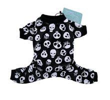 CuteBone Dog Pajamas Skeleton Dog Apparel Dog Jumpsuit Pet Clothes Pajamas P11L