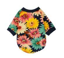 Fitwarm Fashion Summer Floral Dog Tshirt for Pet Dog Clothes Cozy Apparel Medium